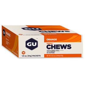 GU Energy Chews Box 18 x 54g, Orange